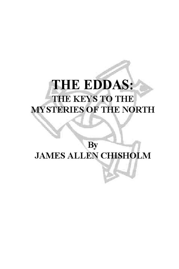 The Eddas: the keys to the mysteries of the north