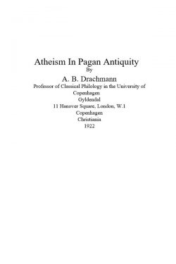 atheism in pagan antiquity